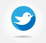 twitter bird flat icon - 79910944