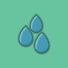 Lienar Flat Stroke Small Mist Icon