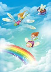 hadas y arco iris