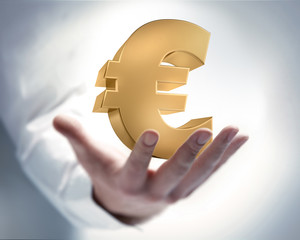 Hand mit Eurosymbol