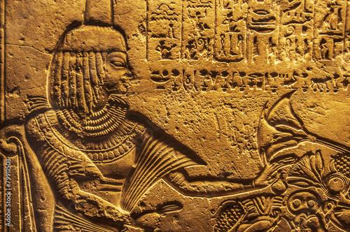 Egyptian hieroglyphics - 79911508