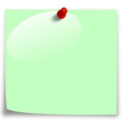 Post-It Grün mit Blase