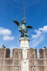 statue of angel in Castel Sant' Angelo