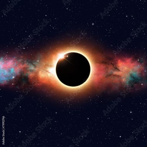 Tuinposter Ruimtelijk Space Eclipse