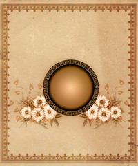 Vintage background with decorative frame.