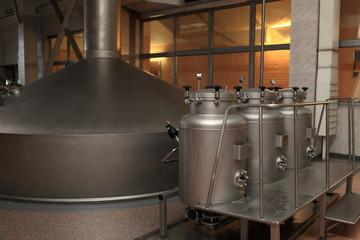 Steel tanks of brewery