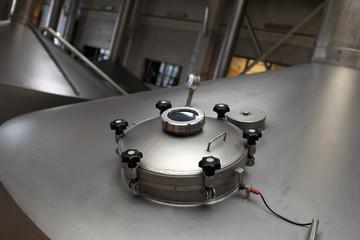 View manhole of fermentation vat