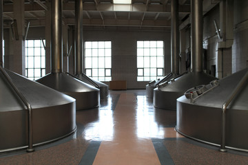 View of the steel tanks