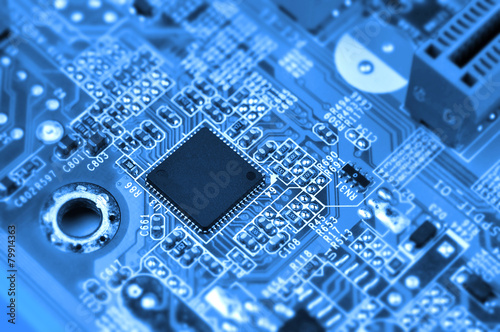 Сircuit board with chip - 79914363