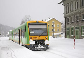 Railway station in Bayerisch Eisenstein. Bavaria. Germany