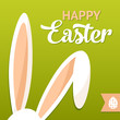 Happy Easter card with rabbit ears - 79916308