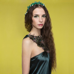 beautyful young woman with accessories