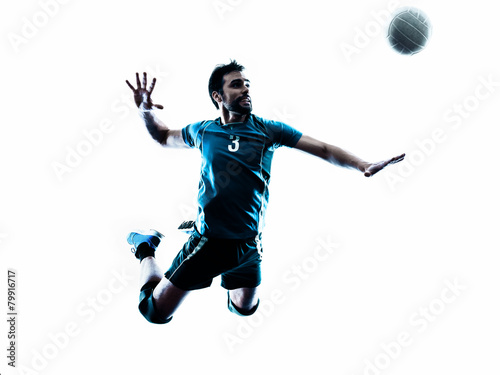 man volleyball jumping silhouette