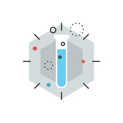 Laboratory experiment flat line icon concept
