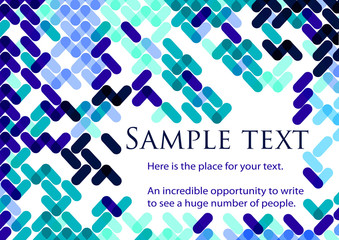 Blue abstract geometric background with space for text