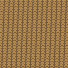 Clay brown tile roof abstract background