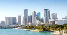 """Постер, картина, фотообои """"Panoramic view of the downtown Miami skyline, Florida, USA."""""""