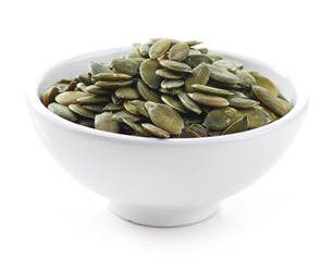 bowl of squash seeds