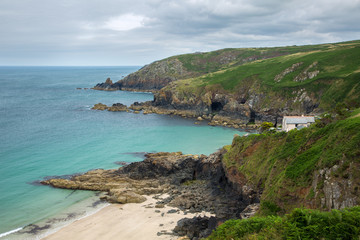 Treen cove Cornwall Uk
