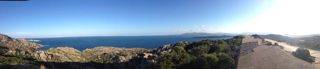 coastal view at caprera, sardinia, italy