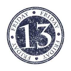 Friday 13 rubber stamp.