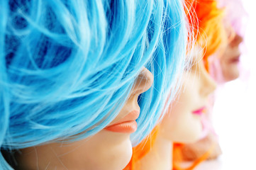 wigs of different colors