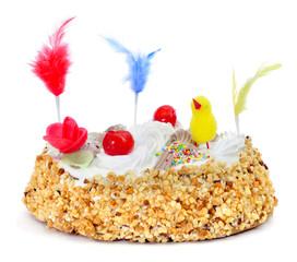 mona de pascua, an ornamented cake eaten in Spain on Easter Mond