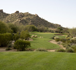 Golf coure fairway,Arizona,USA