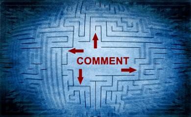 Comment maze concept
