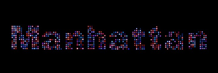 Manhattan led text