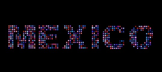 Mexico led text