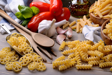 Durum wheat pasta and ingredients