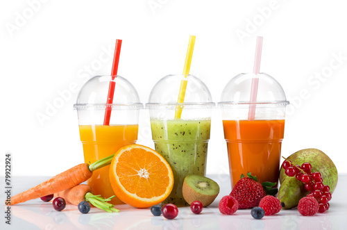Świeży sok wymieszać owoc