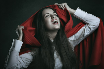 Red hooded vampire