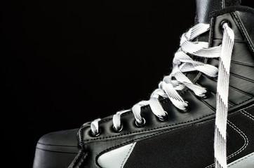 Side of skate on black