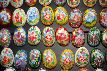 Hand Painted Easter Eggs Decoration of Various Colors As a Buda