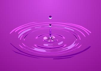 капля оставляющая круги на воде