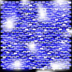 Фон из блестящих квадратов с голубым оттенком