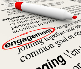 Engagement Dictionary Definition Word Circled Employee Audience