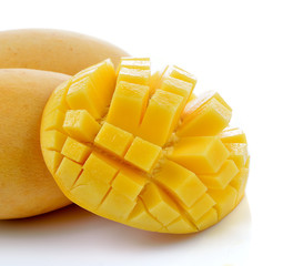 Ripe mango isolated on white background