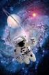 Leinwanddruck Bild - Astronaut Spaceman Suit Spiral