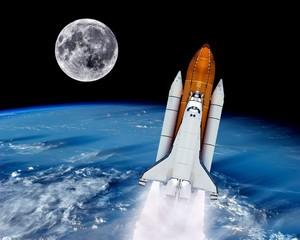 Space Shuttle Launch Rocket