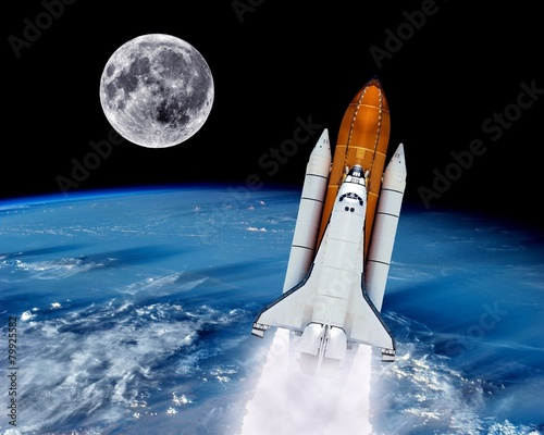 Poster Ruimtelijk Space Shuttle Launch Rocket