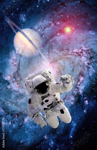 Leinwanddruck Bild Astronaut Spaceman Suit Spiral