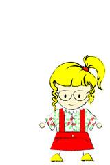 Blonde girls with eyeglasses