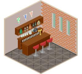 Isometric bar interior