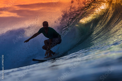 Poster Surfer on Amazing Wave