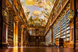 canvas print picture - Strahov Monastery library interior