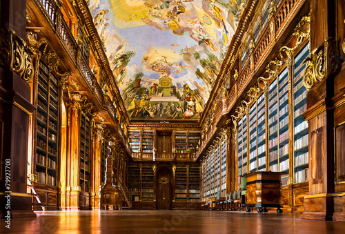 canvas print picture Strahov Monastery library interior