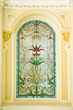 stained glass detail - Stock Image - 79927920